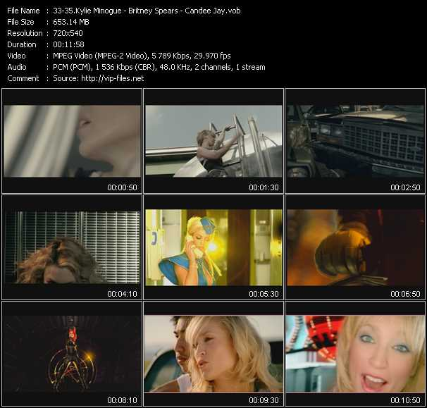 Kylie Minogue - Britney Spears - Candee Jay Video Clip(VOB) vob