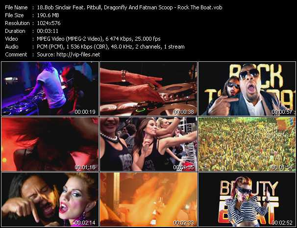 Bob Sinclar Feat. Pitbull, Dragonfly And Fatman Scoop Video Clip(VOB) vob