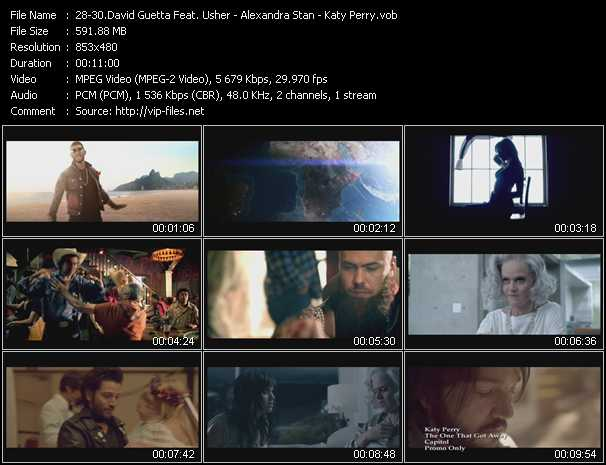 David Guetta Feat. Usher - Alexandra Stan - Katy Perry Video Clip(VOB) vob