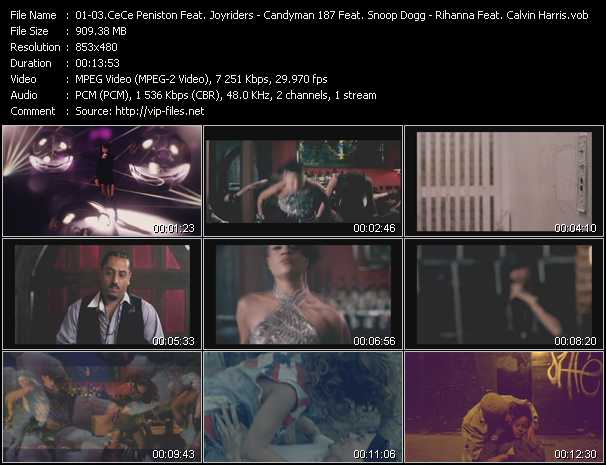 Ce Ce Peniston Feat. Joyriders - Candyman 187 Feat. Snoop Dogg And Ariano - Rihanna Feat. Calvin Harris Video Clip(VOB) vob