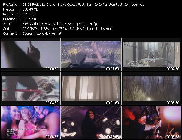 Fedde Le Grand - David Guetta Feat. Sia - Ce Ce Peniston Feat. Joyriders Video Clip(VOB) vob