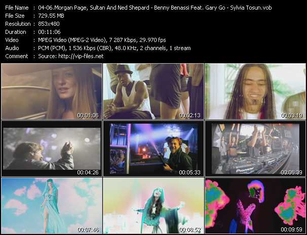 Morgan Page, Sultan And Ned Shepard And BT Feat. Angela McCluskey - Benny Benassi Feat. Gary Go - Sylvia Tosun Video Clip(VOB) vob