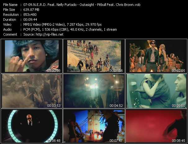 N.E.R.D. Feat. Nelly Furtado - Outasight - Pitbull Feat. Chris Brown Video Clip(VOB) vob