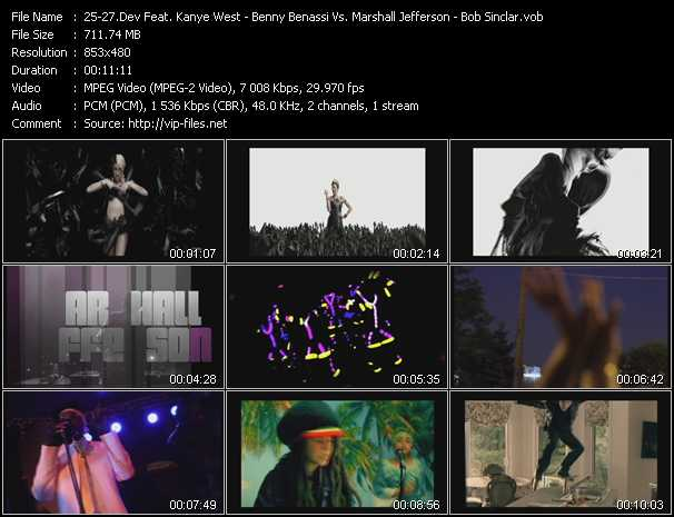 Dev Feat. Kanye West - Benny Benassi Vs. Marshall Jefferson - Bob Sinclar Video Clip(VOB) vob