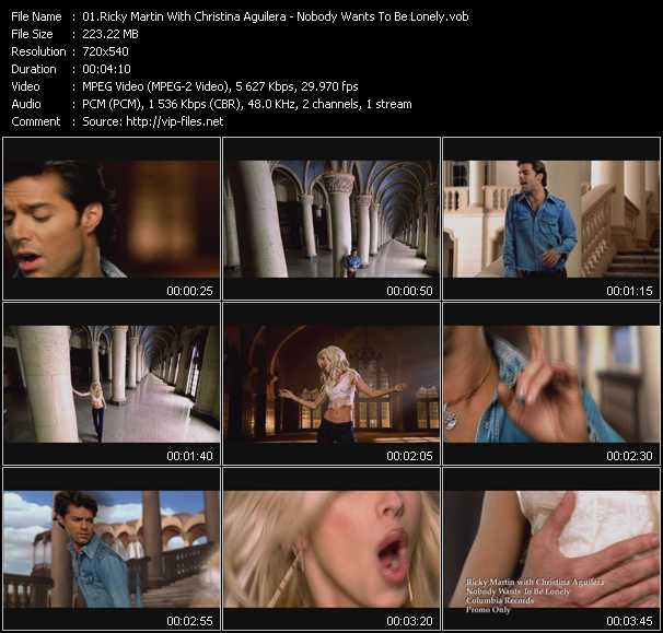 Ricky Martin And Christina Aguilera Video Clip(VOB) vob