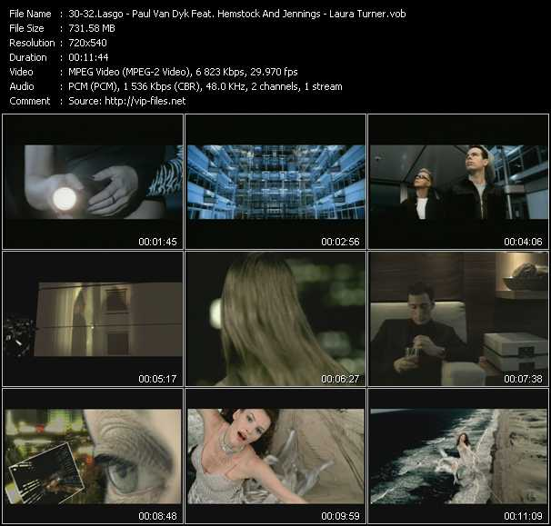 Lasgo - Paul Van Dyk Feat. Hemstock And Jennings - Laura Turner Video Clip(VOB) vob
