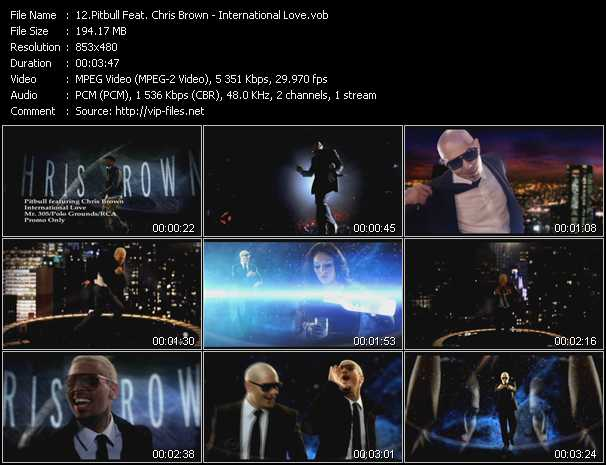 Pitbull Feat. Chris Brown Video Clip(VOB) vob
