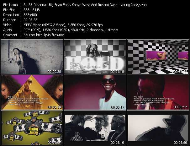 Rihanna - Big Sean Feat. Kanye West And Roscoe Dash - Young Jeezy Video Clip(VOB) vob