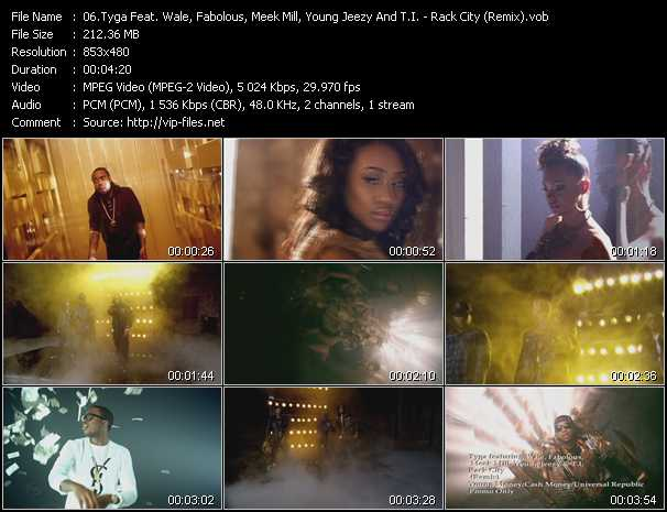 Tyga Feat. Wale, Fabolous, Meek Mill, Young Jeezy And T.I. Video Clip(VOB) vob