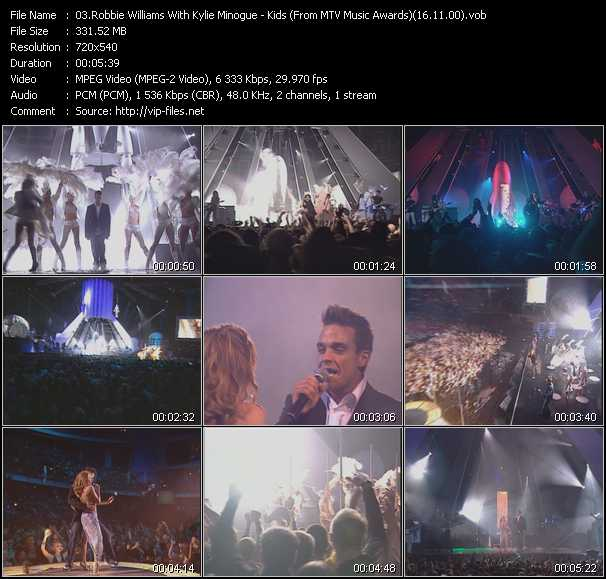 Robbie Williams And Kylie Minogue Video Clip(VOB) vob
