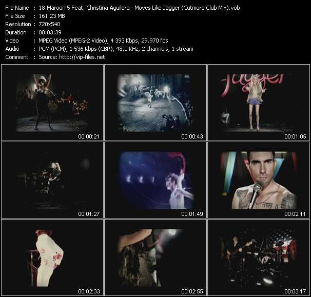 Maroon 5 Feat. Christina Aguilera Video Clip(VOB) vob