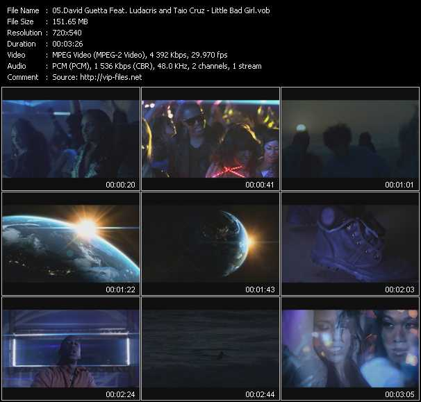 David Guetta Feat. Taio Cruz And Ludacris Video Clip(VOB) vob