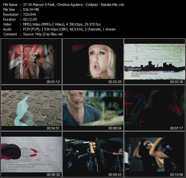 Maroon 5 Feat. Christina Aguilera - Coldplay - Natalia Kills Video Clip(VOB) vob