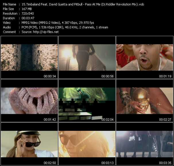 Timbaland Feat. David Guetta And Pitbull Video Clip(VOB) vob