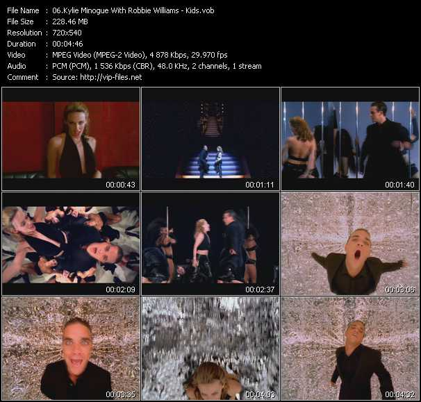 Kylie Minogue With Robbie Williams Video Clip(VOB) vob