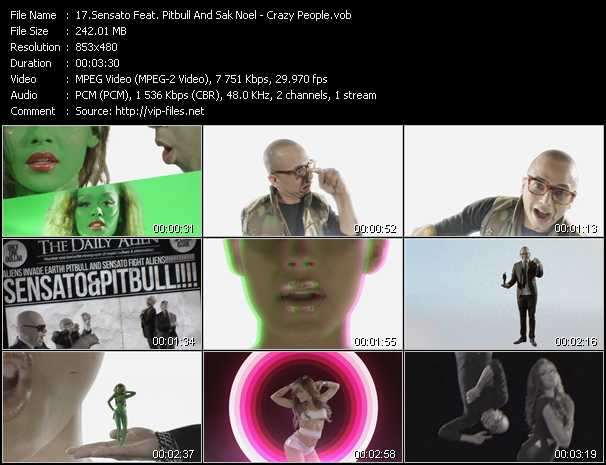Sensato Feat. Pitbull And Sak Noel Video Clip(VOB) vob