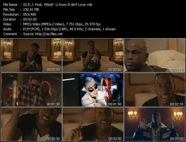 R.J. Feat. Pitbull Video Clip(VOB) vob