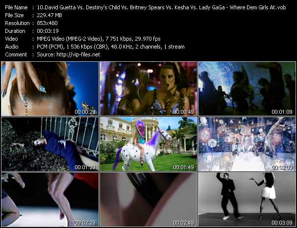 David Guetta Vs. Destiny's Child Vs. Britney Spears Vs. Kesha Vs. Lady GaGa Video Clip(VOB) vob