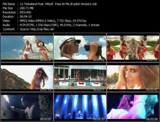 Timbaland Feat. Pitbull Video Clip(VOB) vob