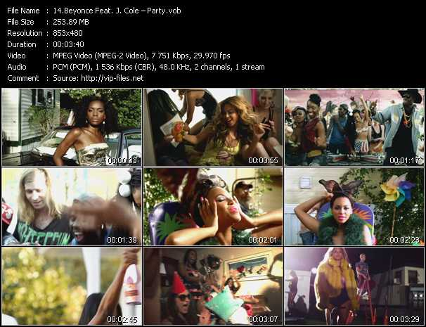 Beyonce Feat. J. Cole Video Clip(VOB) vob