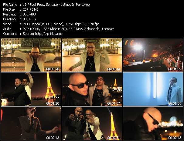 Pitbull Feat. Sensato Video Clip(VOB) vob
