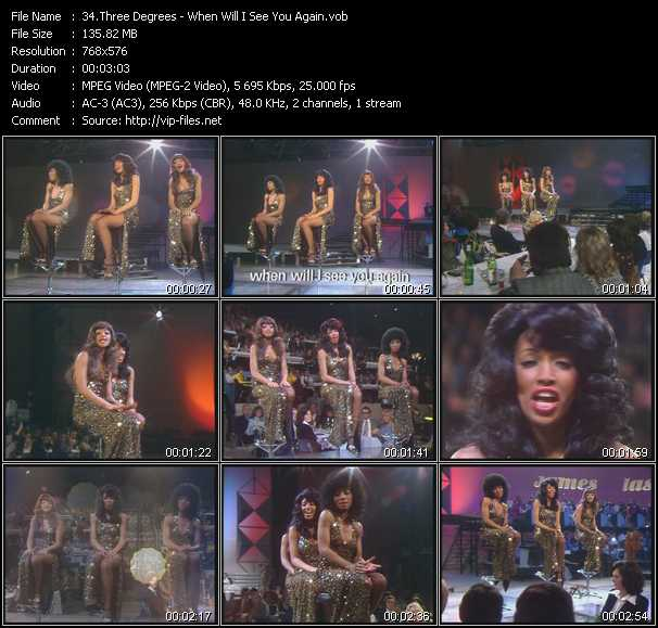 Three Degrees Video Clip(VOB) vob