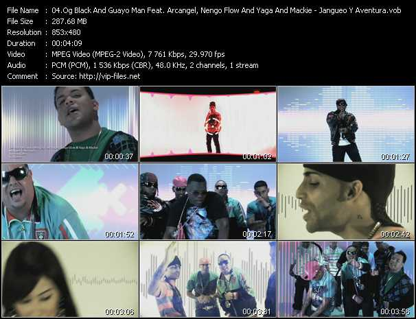 O.G. Black And Guayo Man Feat. Arcangel, Nengo Flow And Yaga And Mackie Video Clip(VOB) vob