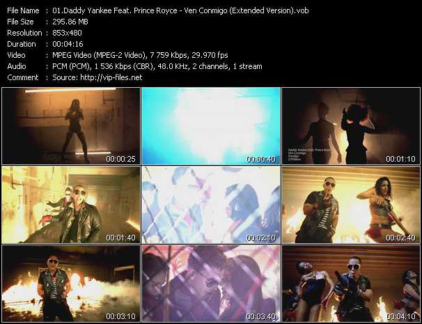 Daddy Yankee Feat. Prince Royce Video Clip(VOB) vob