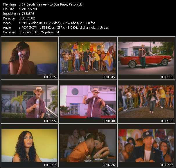 Daddy Yankee Video Clip(VOB) vob