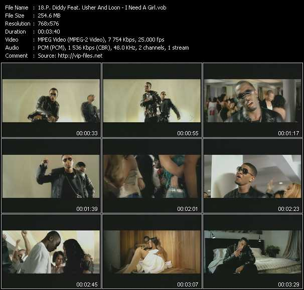 P. Diddy (Puff Daddy) Feat. Usher And Loon Video Clip(VOB) vob