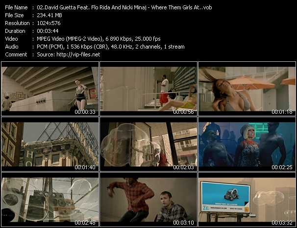 David Guetta Feat. Flo Rida And Nicki Minaj Video Clip(VOB) vob