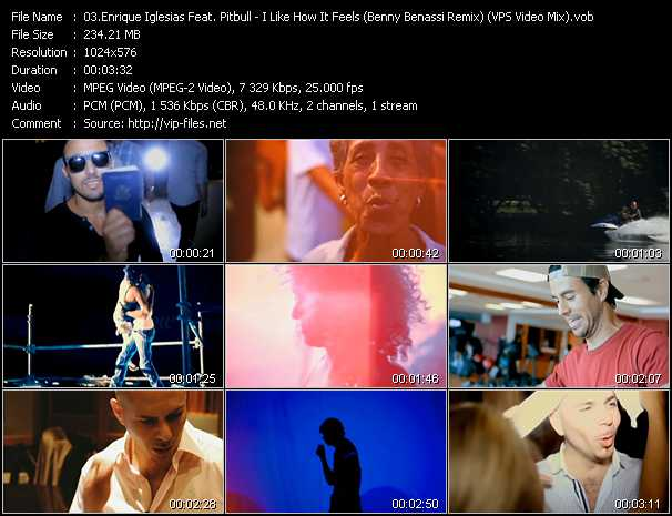 Enrique Iglesias Feat. Pitbull Video Clip(VOB) vob