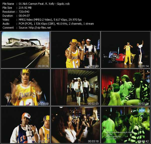 Nick Cannon Feat. R. Kelly Video Clip(VOB) vob