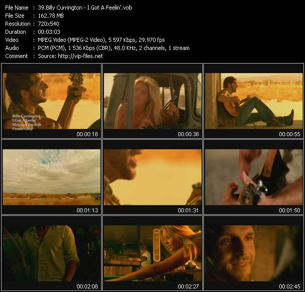 Billy Currington Video Clip(VOB) vob