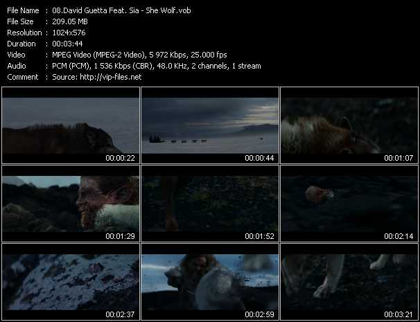 David Guetta Feat. Sia Video Clip(VOB) vob