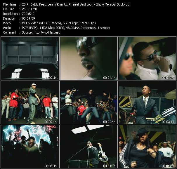 P. Diddy (Puff Daddy) Feat. Lenny Kravitz, Pharrell Williams And Loon Video Clip(VOB) vob
