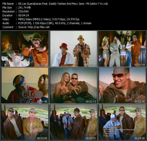 Las Guanabanas Feat. Daddy Yankee And Mary Jane Video Clip(VOB) vob