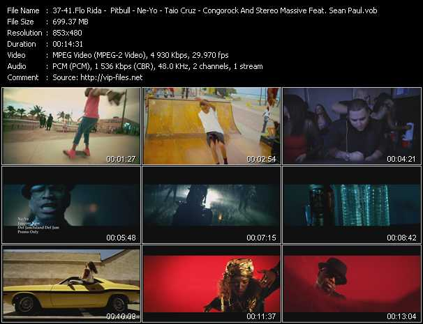 Flo Rida - Pitbull - Ne-Yo - Taio Cruz - Congorock And Stereo Massive Feat. Sean Paul Video Clip(VOB) vob