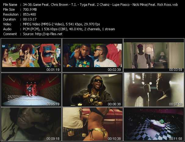 Game Feat. Chris Brown, Tyga, Lil' Wayne And Wiz Khalifa - T.I. - Tyga Feat. 2 Chainz - Lupe Fiasco - Nicki Minaj Feat. Rick Ross And Cam'ron Video Clip(VOB) vob