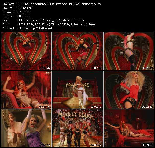 Christina Aguilera, Lil' Kim, Mya And Pink Video Clip(VOB) vob