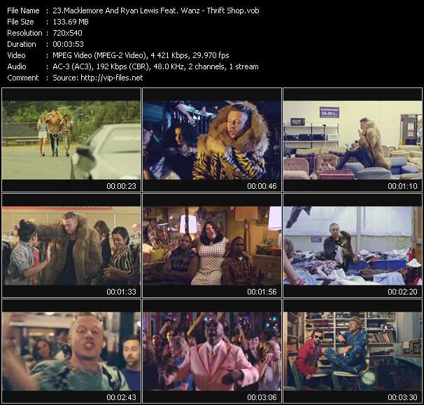 Macklemore And Ryan Lewis Feat. Wanz Video Clip(VOB) vob