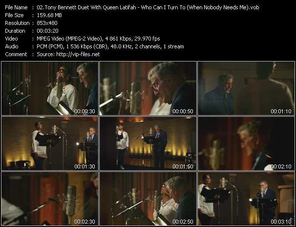 Tony Bennett Duet With Queen Latifah Video Clip(VOB) vob