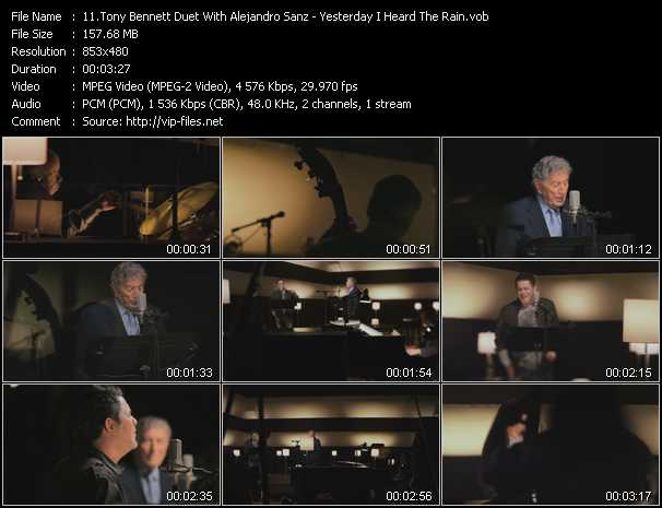 Tony Bennett Duet With Alejandro Sanz Video Clip(VOB) vob