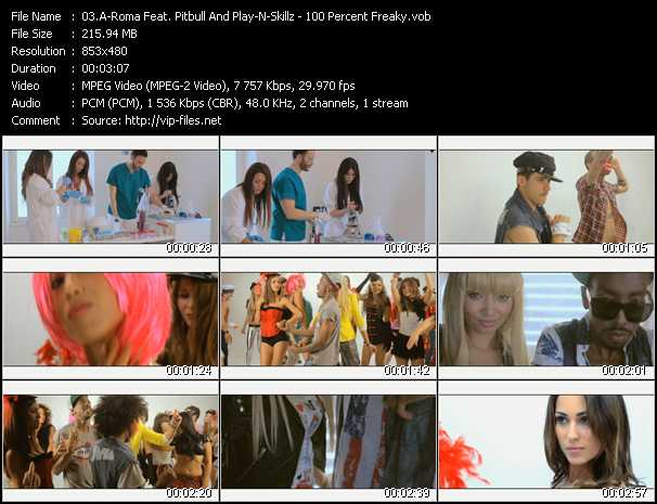 A-Roma Feat. Pitbull And Play-N-Skillz Video Clip(VOB) vob